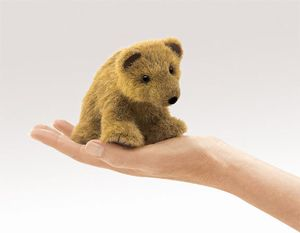 Mini Grizzly Bear Finger Puppet  |  Folkmanis
