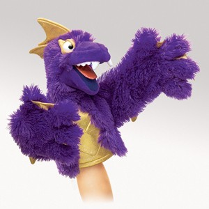 Purple Pi Monster Character Puppet  |  Folkmanis