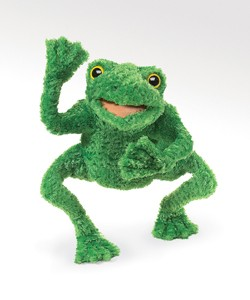 Long Legged Frog Hand Puppet  |  Folkmanis