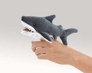Mini Shark Finger Puppet  |  Folkmanis