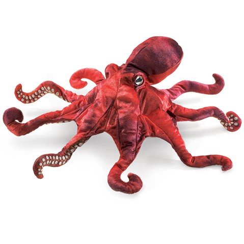 Red Octopus Hand Puppet  |  Folkmanis