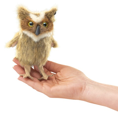 Mini Great Horned Owl Finger Puppet  |  Folkmanis