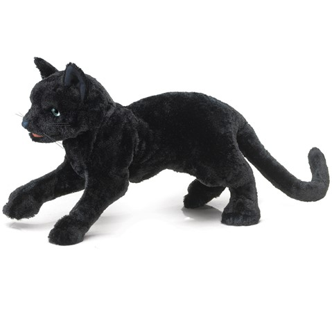 Black Cat Hand Puppet  |  Folkmanis