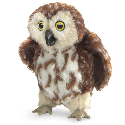 Saw-whet Owl Hand Puppet  |  Folkmanis