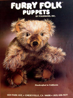 One of Folkmanis Puppets early catalogs. The product was then called
